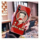 Betty Boop Retro design Tempered Glass case iPhone 6 6S 7 8 + X XS XR 11 Pro Max $13.94 CAD on eBay