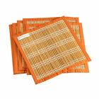 Set of 6 Sedge Placemats with Cotton Edging Fair Trade from Cambodia