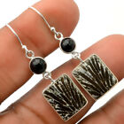 Stingray Coral and Black Onyx 925 Sterling Silver Earrings Jewelry SDE27780