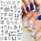 3D Nail Stickers Liner Abstract Pattern Transfer Decals Nail Art Decoration Tips