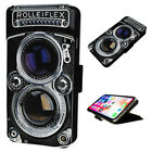 Rolleiflex Camera - Flip Phone Case Wallet Cover - Fits Iphones & Samsung