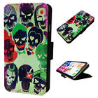 Suicide Squad - Flip Phone Case Wallet Cover - Fits Iphones & Samsung