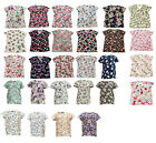 Womens Ultra Soft Touch Microfiber Medical Printed Scrub Tops XS-3XL