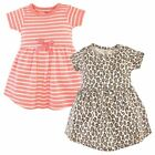 Touched by Nature Girls, Toddler, and Baby Organic Cotton Short-Sleeve Dresses,