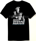 Buster Keaton Tribute T Shirt - Silent Film Comedy Star 1920's Retro - New image