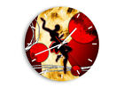 WALL CLOCK - CLOCK ON GLASS Abstraction Dance Character - 12 SHAPES - UK 0686