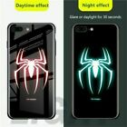 Luminous Phone Case for iPhone 11 Pro Max Marvel Avengers Tempered Glass Cover
