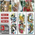 3 Pieces Temporary Tattoo Fake Art Sticker Waterproof Long Lasting Men Women New $12.48 USD on eBay