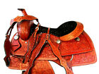 16 17 GAITED HORSE WESTERN SADDLE TRAIL PLEASURE RIDE FLORAL TOOLED LEATHER TACK