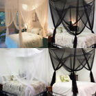 White/Black Mosquito Net Canopy Fly Insect Protect Single Entry For 4 King Bed image