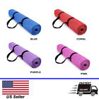 Yoga & Pilates Exercise mats with Carry Strap - 4mm Thickness - Fastest Shipping image