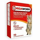 Ridaworm Cat Kitten Wormer Flavoured Worming Tablets Roundworms Tapeworms