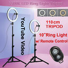 "10"" LED Studio Ring Light w/ Tripod Dimmable Photo Selfie Video Live Lamp Light"