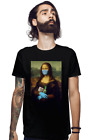 Mona Lisa 2020 With Protect Mask Gloves Soap Funny Fan Art Black T-Shirt S-6XL