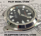 Double Dome Sapphire Crystal for SKX007, SRPD -- CT099 <br/> Specially developed for the CT206 Pilot Bezel