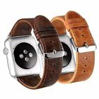 For Apple iWatch Series 5 4 3 2 Luxury Leather Strap Watch Band Wrist Belt US image