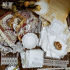Hollow Lace Paper Diary Journal Basic Stickers Decorative DIY Scrapbooking Craft