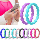 Kyпить Women's Silicone Wedding Ring Flexible Wave Rubber Band US Size 4 5 6 7 8 9 10 на еВаy.соm