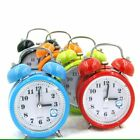 Small Battery Operated Analog Travel Alarm Clock Silent No Ticking Home Decor