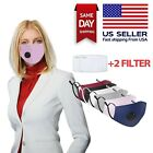 Cotton Face Mask With PM2.5 Filter Washable Reusable Activated Carbon respirator