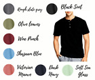 Hanes T Shirts Mens Heritage 1901 Dyed Short Sleeve Henley Tee Shirt Brand NEW image