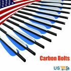 16/20'' Archery Carbon Crossbow Bolts Hunting Arrows with Replacement Field Tips