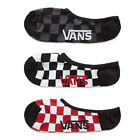 "Vans ""Classic Super No Show Socks"" 3-Pack (Red/White Check) Unisex Sock Basics"