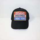 DSquared2 Brand Embroidery Logo Cap Black