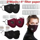 2 Bike Bicycle PM2.5 Anti Air Pollution Face Mask With Respirator With Filters