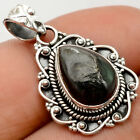Natural Nuummite 925 Sterling Silver Handmade Pendant Jewelry SDP60156
