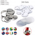 300 Sets Button Supplies Parts Round Plastic for Badge Maker Machine 25/32/37mm