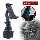 Car Mount Adjustable Cup Holder Stand For 4.7-12.9'' Phone Tablet Universal