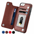 Magnetic Leather Wallet Case Card Slot Shockproof Flip Cover Iphone 6s 7 8 Plus