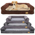 Dog Bed Sofa Extra Large Pet Thick Cushion Lounger Big Couch Rustic Grey & Brown