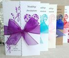 Wedding Invitations, Personalised, Day/Evening, Gatefold with ribbon and env