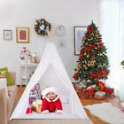 US Canvas Children Indian Tent Teepee Play Sleeping Indoor Outdoor Dome Portable