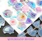 1X Key Chain Charms Mold Kawaii Strawberry Clear Silicone Epoxy Resin Shaker DIY