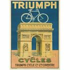 Triumph Cycles Bicycle  Vintage Bicycling Art Poster $29.99 USD on eBay