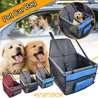 Pet Dog Booster Seat Car Seat Clip-On Safety Leash And Zipper Storage Pocket