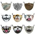 Face Mask Mouth Protection Washable- Animal Designs - Dog, Cat, Tiger, Pig Snout