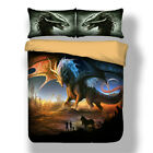 Dragon Bedding Set Quilt Duvet Cover Twin Queen King Size Bed Pillowcase Animals image