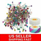 480pcs Mix-color Pearl Round Head Dressmaking Pins Diy Sewing Positioning Pin