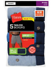 Hanes Men's TAGLESS® ComfortSoft® Knit Boxers with ComfortSoft® Waistband 5-Pack