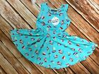 NWT Dot Dot Smile Twirly Summer dress Girls Tank Sailing bots Green print