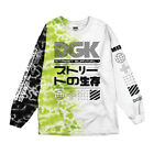"DGK Dirty Ghetto Kids ""Street Survival"" Long Sleeve Tee (Tie Dye) Men's T-Shirt"
