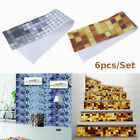 3D Mosaic Self Adhesive Wall Decal Tile Sticker Bathroom Kitchen Home Decor USA