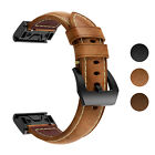 StrapsCo Leather Replacement Watch Band Strap for Garmin Fenix 6S  Fenix 5S