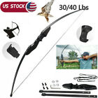 30/40Lbs Hunting Archery Recurve Bow Takedown Longbow Outdoor Shooting Training