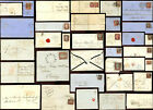 SCOTS LOCALS + RECEIVING HOUSE POSTMARKS + NUMERALS COVERS 1822-1859 each priced