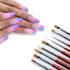 Round Head UV Gel Polish Nail Painting Brush Wooden Nail Liner Pen Nail Art Tool